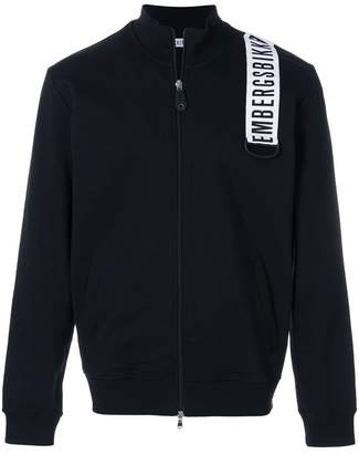 Dirk Bikkembergs logo patch zipped sweatshirt