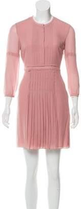 Burberry Silk Pleated Dress w/ Tags