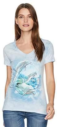 The Mountain Women's Dolphin Bubble Tri-Blend V-Neck