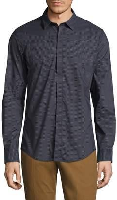 Antony Morato Men's Long Sleeve Printed Sportshirt