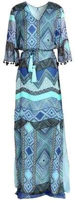 Matthew Williamson Pom Pom-Trimmed Silk-Chiffon Maxi Dress