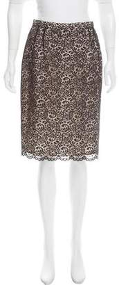 Ungaro Emanuel by Lace Pencil Skirt