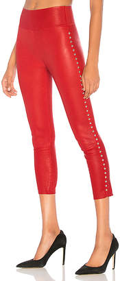 SPRWMN Dome Stud Capri Leather Legging