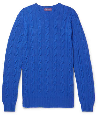 Ralph Lauren Purple Label Slim-Fit Cable-Knit Cashmere Sweater