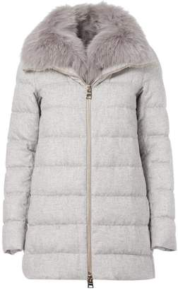 Herno fur trimmed padded jacket