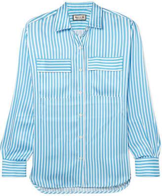 Paul & Joe Jaumatin Striped Satin Shirt - Blue