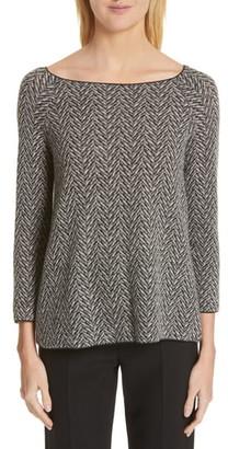 Emporio Armani Herringbone Wool Jacquard Sweater