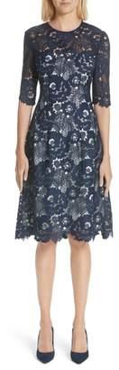 Lela Rose Holly Lace A-Line Dress