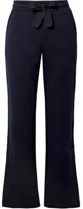 Moncler Cotton-jersey Wide-leg Pants - Midnight blue