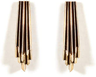 Aesa Brass Wind Wake Earrings