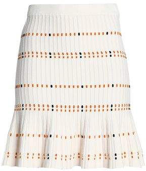 Sandro Nola Fluted Texured-Knit Mini Skirt
