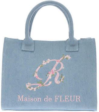 Maison de Fleur (メゾン ド フルール) - Maison de FLEUR 【sweet4月号掲載】Lデニムイニシャル刺繍トートバッグ