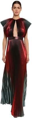 Givenchy Pleated Silk Lamé Taffeta Dress