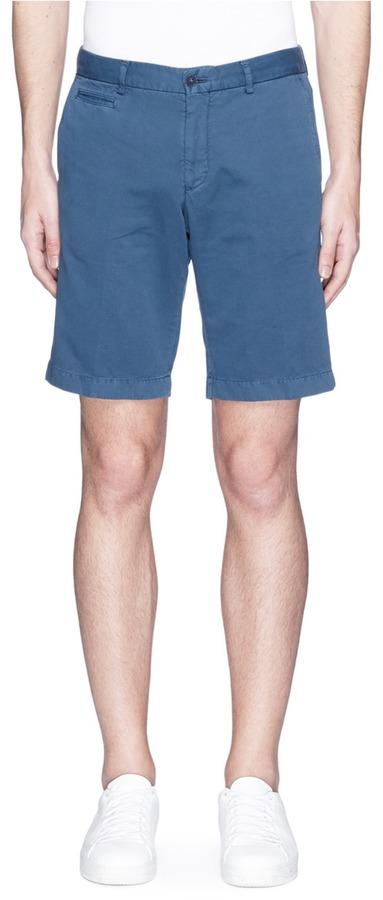 AlteaAltea Face patch gabardine Bermuda shorts