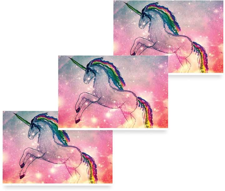 Michael Gurhy - Cosmic Unicorn Greeting Card Set of 3