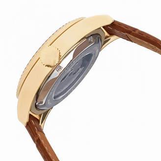Heritor Unisex Brown Strap Watch-Herhr7105