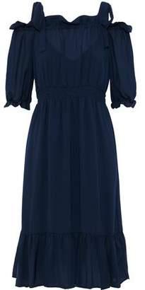 Baum und Pferdgarten Abril Cold-Shoulder Ruffle-Trimmed Voile Dress