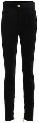 Balmain Velvet high-waisted skinny jeans