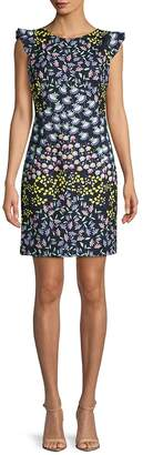 Nanette Lepore Women's Printed Cap-Sleeve Stretch Dress