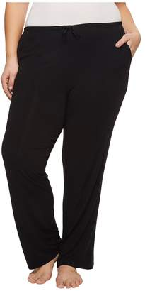 Donna Karan Plus Size Modal Spandex Jersey Long Pants Women's Pajama