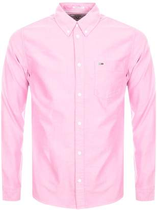 Tommy Jeans Long Sleeved Shirt Pink