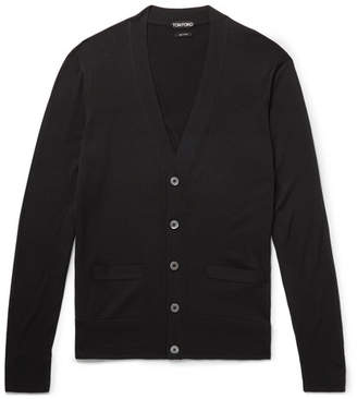 Tom Ford Slim-Fit Wool Cardigan - Men - Black