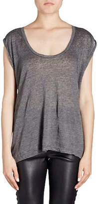 Isabel Marant Maik Scoop-Neck Sleeveless Linen Tank