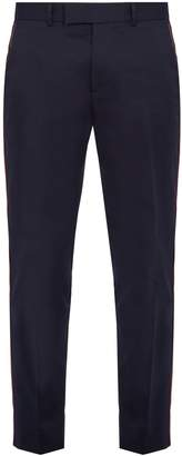 Gucci Side-stripe cotton trousers