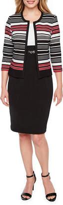 Studio 1 3/4 Sleeve Jacket Dress-Petite