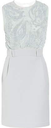 Preen by Thornton Bregazzi Atmosphere Beaded Chiffon And Crepe Dress - Azure