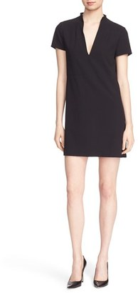 Women's Alice + Olivia 'Barry' Short Sleeve V-Neck Boxy Shift Dress $256 thestylecure.com