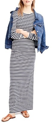 Women's J.crew Long Sleeve Stripe Maxi Dress $128 thestylecure.com