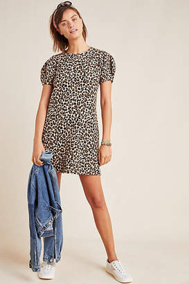 Velvet by Graham & Spencer Jolene Leopard Puff-Sleeved Mini Dress