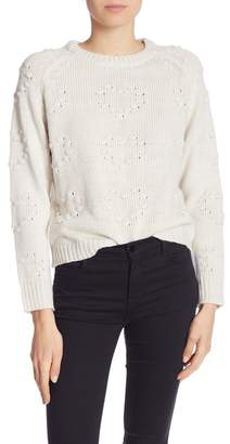John & Jenn Heart Stitch Crew Neck Sweater