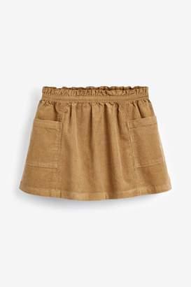 Next Girls Camel Cord Skirt (3mths-7yrs) - Brown