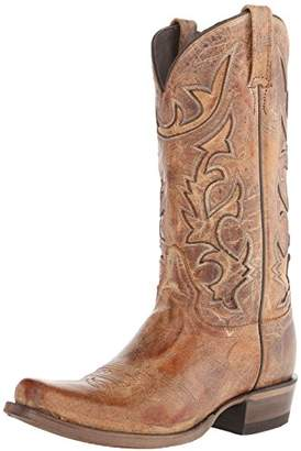 Stetson Men's Cracked Inlay Snip Toe