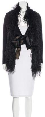 Sonia Rykiel Feather-Trimmed Structured Jacket