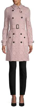 Burberry Women's Lace Double-Breasted Coat
