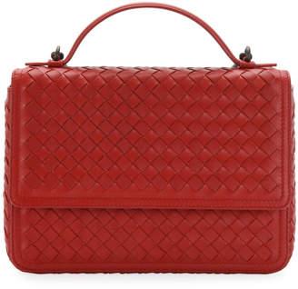Bottega Veneta Woven Leather Flap Top Handle Bag