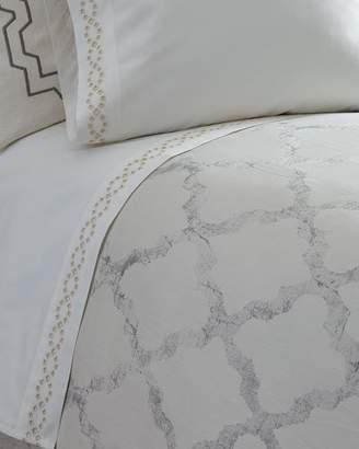 Vera Wang Queen Diamond Eyelet 400 Thread-Count Flat Sheet