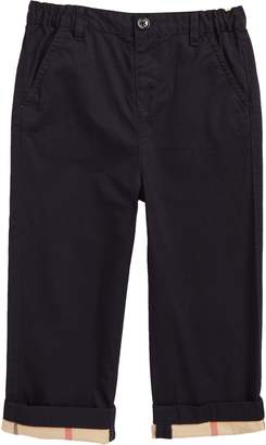 Burberry Ricky Check Cuff Chino Pants