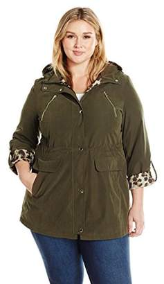 Lark & Ro Women's Plus Size Utility Jacket