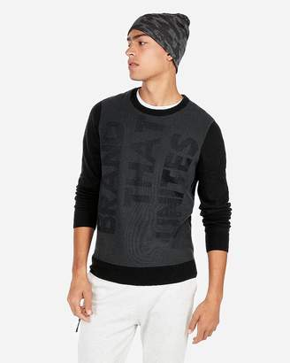 Express Text Crew Neck Sweater