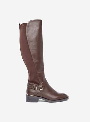 Dorothy Perkins Womens Chocolate 'Kikka' Long Boots