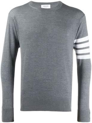 Thom Browne 4-bar classic crewneck pullover