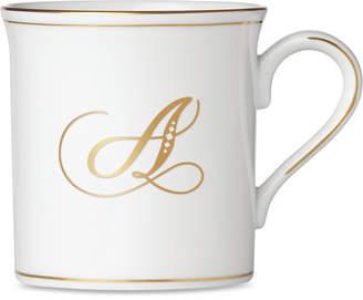 Lenox Federal Gold Monogram Mug, Script Letters