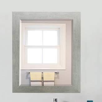Brayden Studio Brushed Silver Beveled Wall Mirror