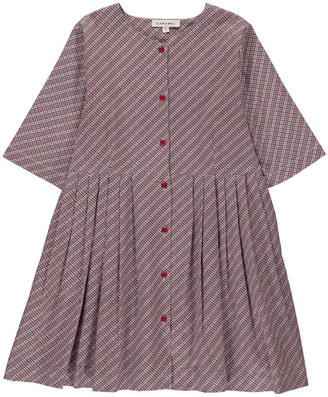 CARAMEL Chicory Checked Dress with Buttons $147.60 thestylecure.com