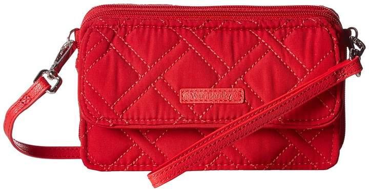 Vera Bradley RFID All-In-One Crossbody Cross Body Handbags - CARDINAL RED - STYLE