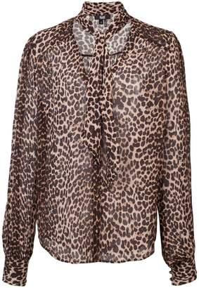 Paige leopard print blouse